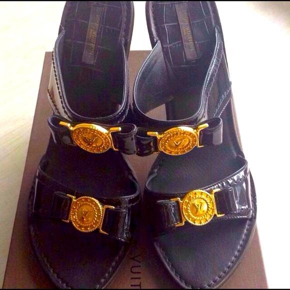 Authentic Louis Vuitton Patent Leather Heels.